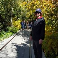 Ashley's brother on the Highline, an awesome park built on an old metro line.