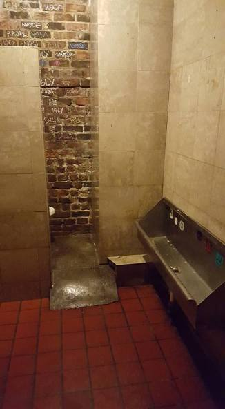 The men's room at Jean Lafitte's, the oldest and most haunted bar in America.
