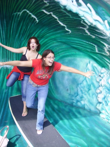 Our non-Disney day (where we did everything around Disney except pay to go in), 2007.