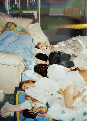 Sleepovers at my house were never a big deal. I was in my own space. Everyone else had to make themselves comfortable instead of the other way around.