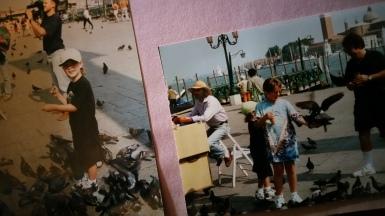 Feeding the birds in Venice