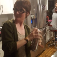 Cari, making a Boston sour