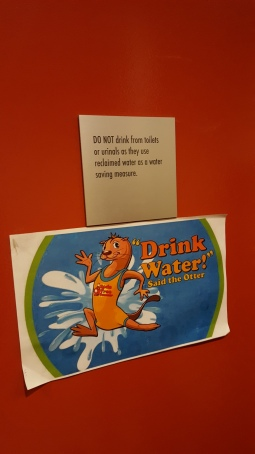 This sign made me laugh. Like, duh? Who drinks water from the toilet??