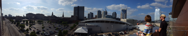 The view from Music City Center