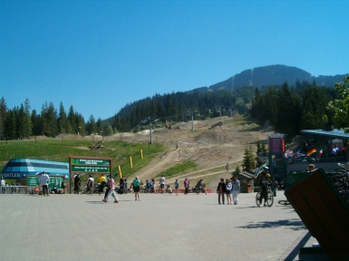 the bottom of whistler