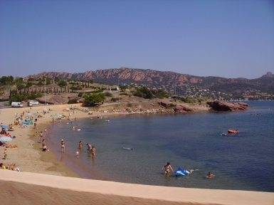 Beaches along the riviera
