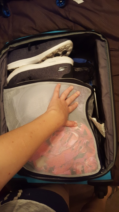 Plenty of extra space for my flat iron, bathroom bag, and maybe some more clothes!