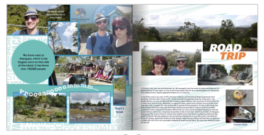 Pages in my Puerto Rico photo book