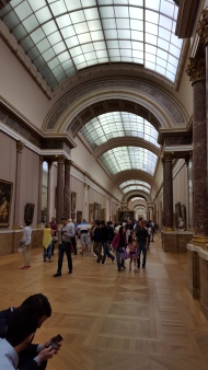 One of the halls of paintings.