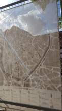 A lace map of the town.