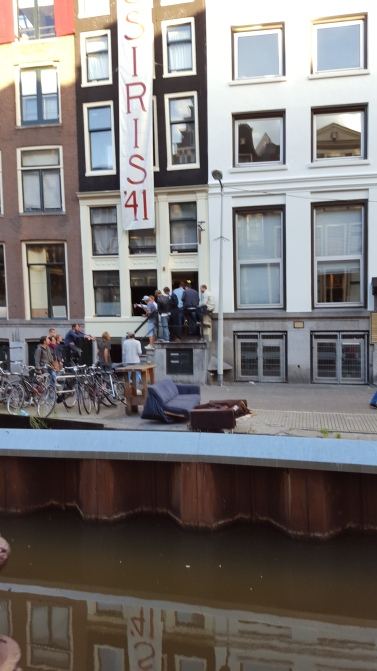 A few abandoned couches, some rowdy boys making a ruckus in the Red Light District